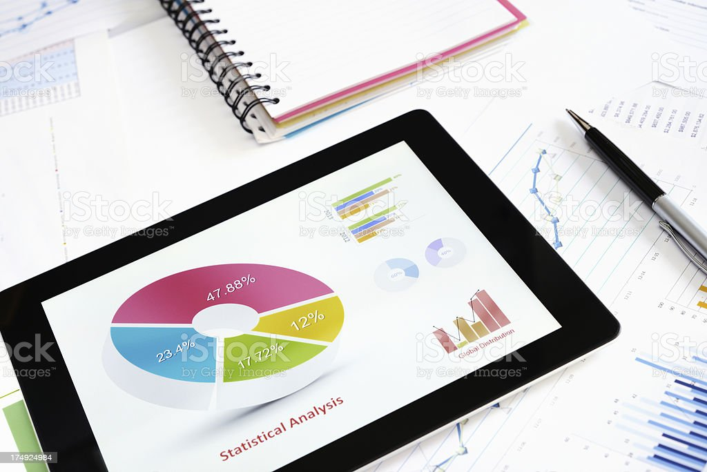 Chart on Laptop royalty-free stock photo