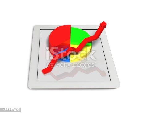 486439381istockphoto 3D chart on tablet 486767925