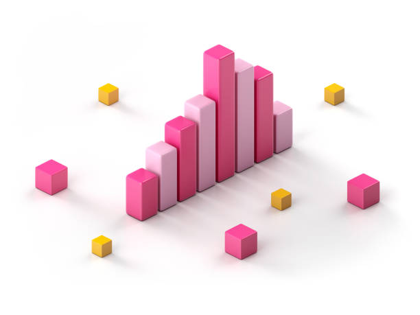 chart - advertising isometric stock pictures, royalty-free photos & images