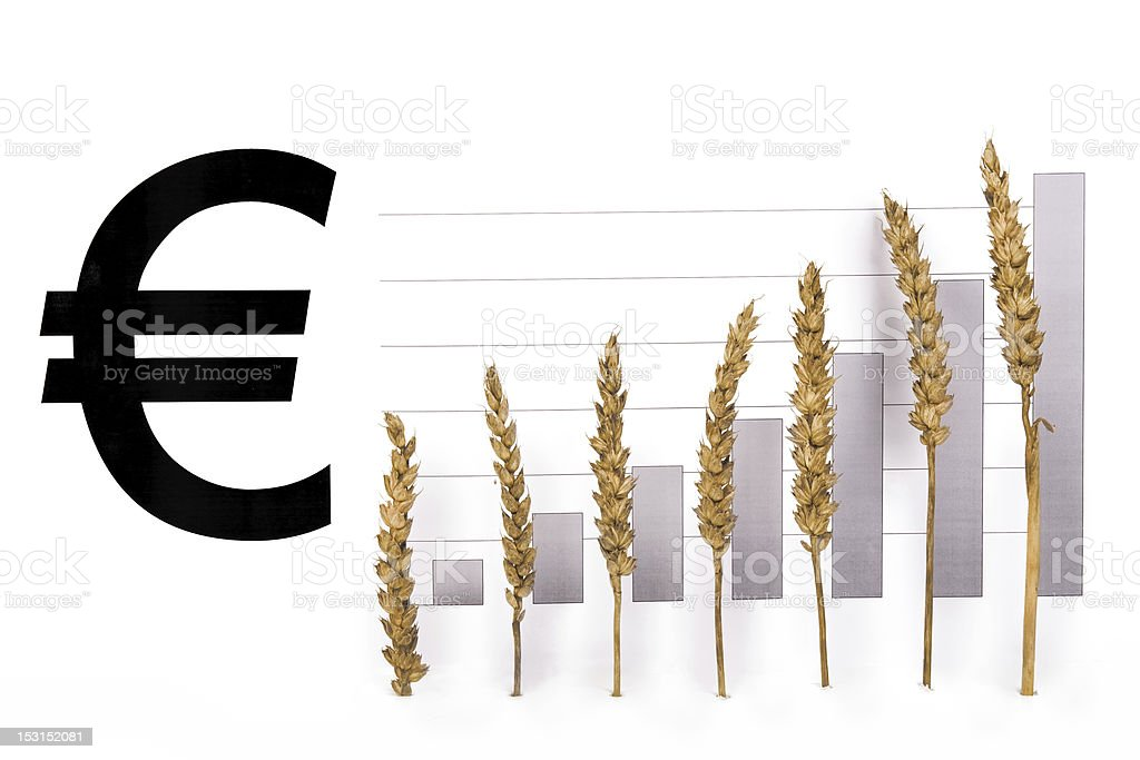 chart with a grain royalty-free stock photo