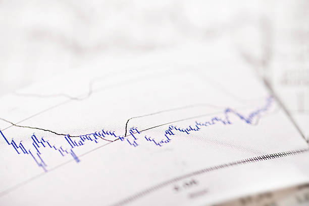 Chart with stock price stock photo