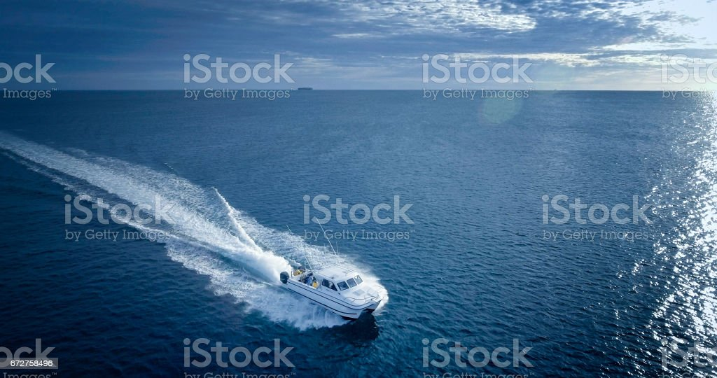 Charter fishing boat stock photo
