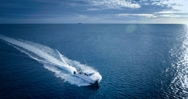 charter fishing boat - fishing industry stock pictures, royalty-free photos & images