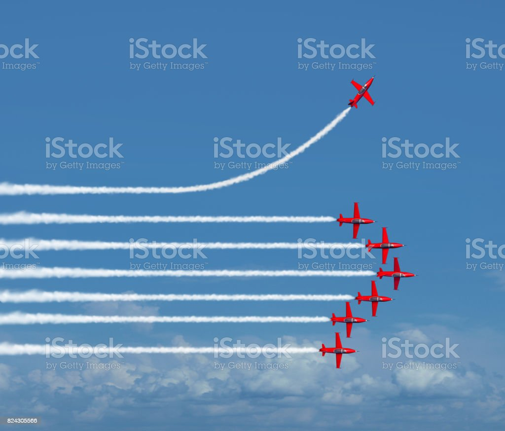 Chart-einen anderen Weg - Lizenzfrei Abschied Stock-Foto