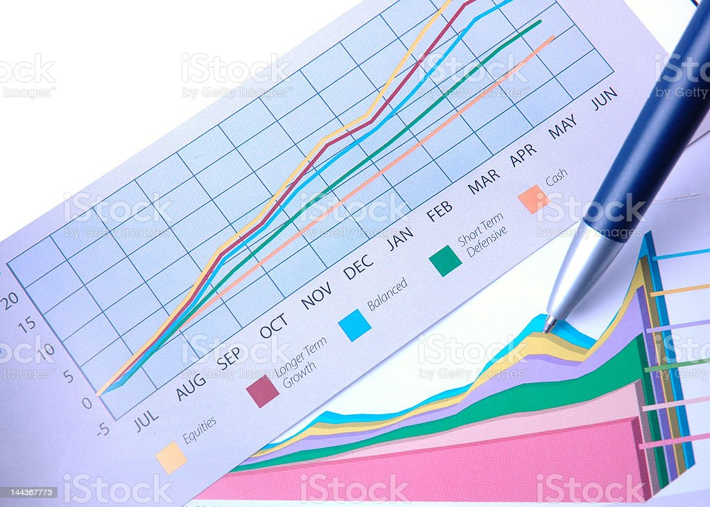 Charting success royalty-free stock photo