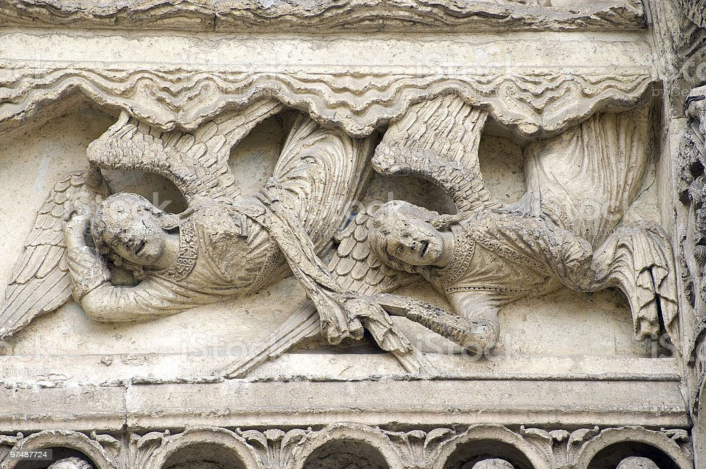 Chartres (France) - Cathedral exterior, detail royalty-free stock photo