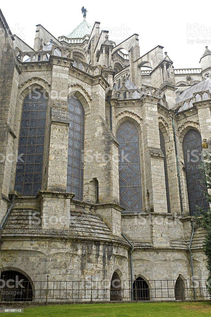 Chartres (cattedrale)-Francia esterno, dettaglio foto stock royalty-free