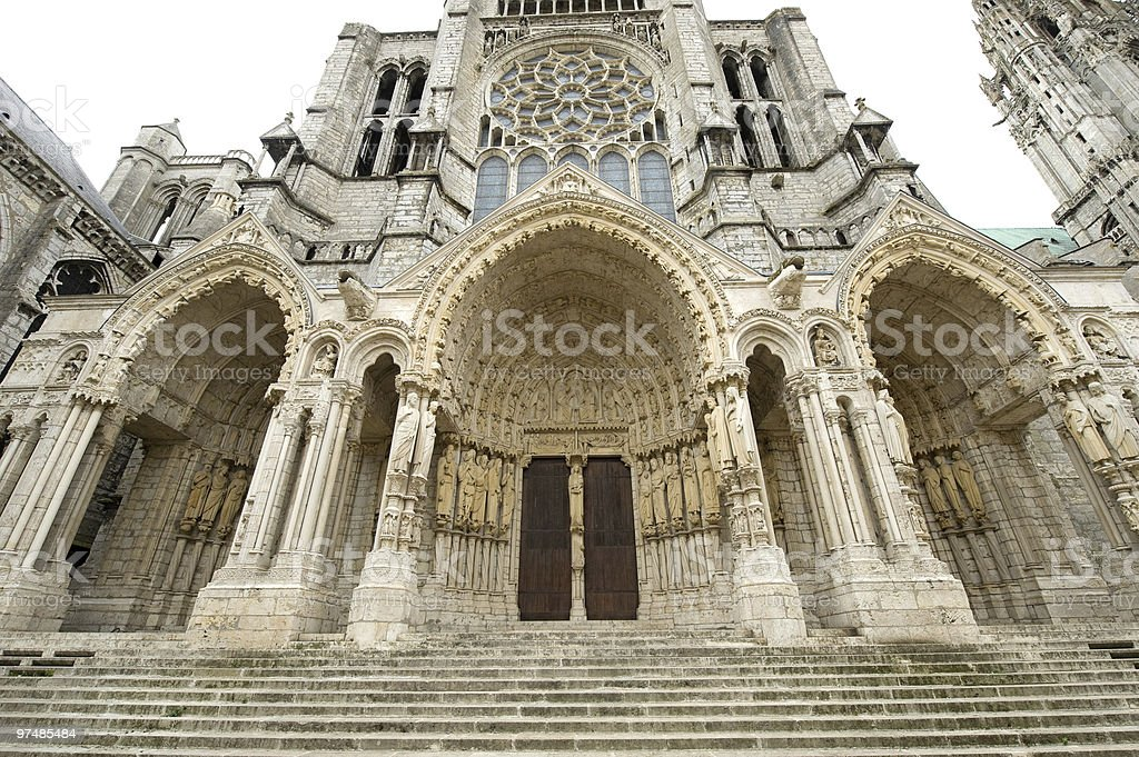 Chartres (France) - Cathedral exterior stock photo