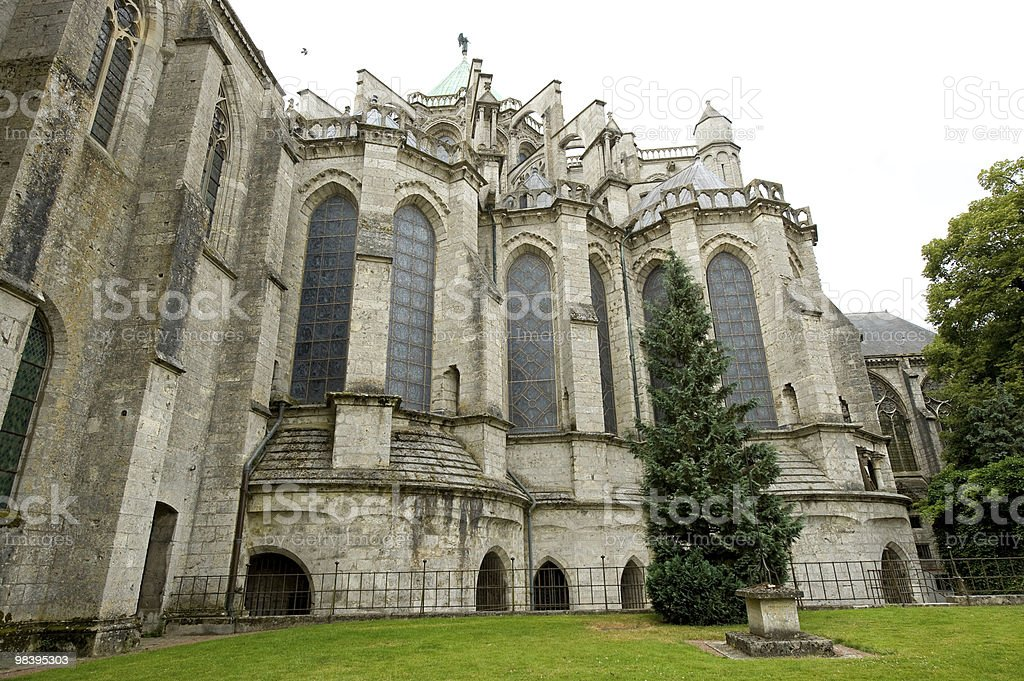 Chartres (France) - Cathedral exterior royalty-free stock photo