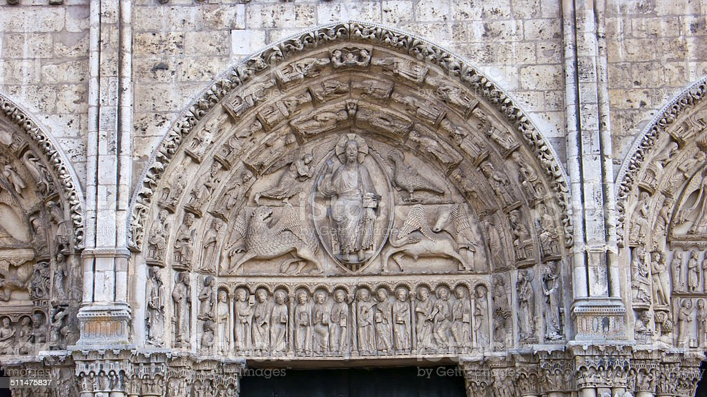 Chartres Cathedral. France. stock photo