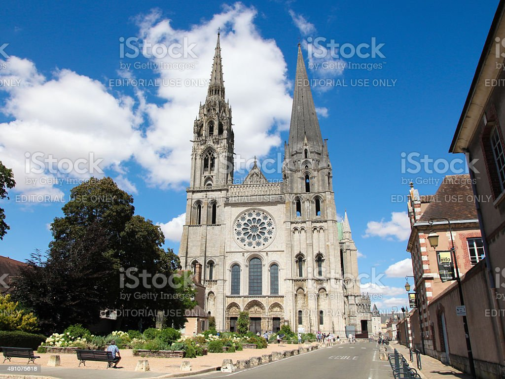 Chartres Cathedral stock photo