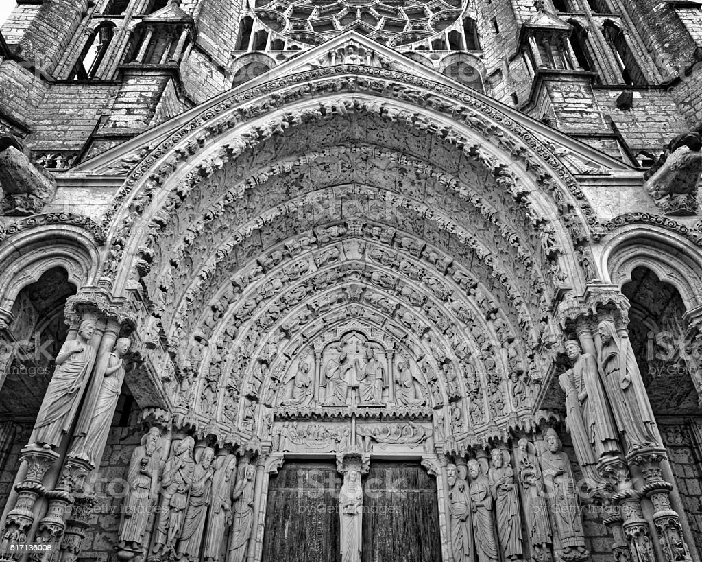 Chartres Church Entrance stock photo