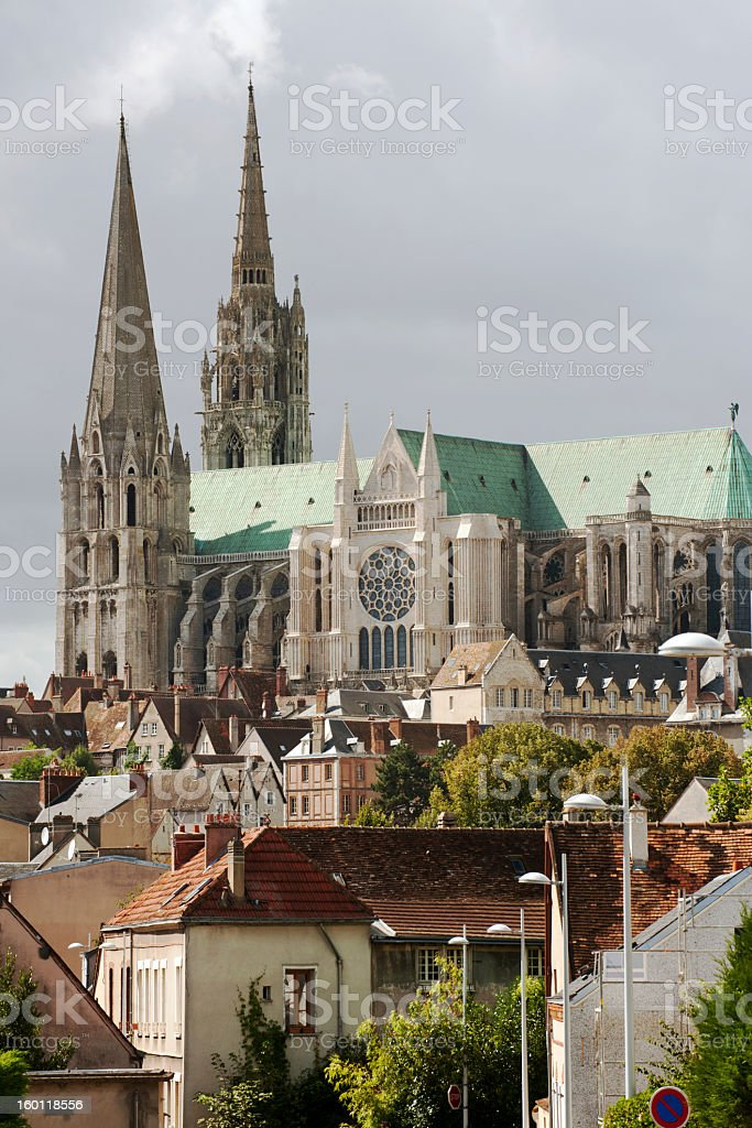 Chartres downtown stock photo