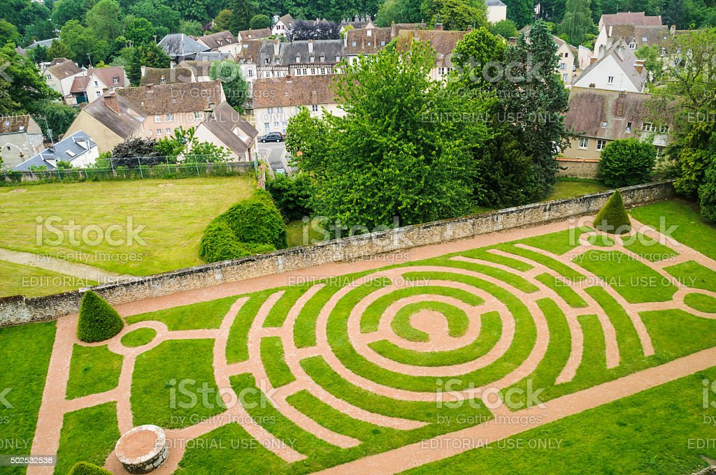 Chartres  Labyrinth stock photo