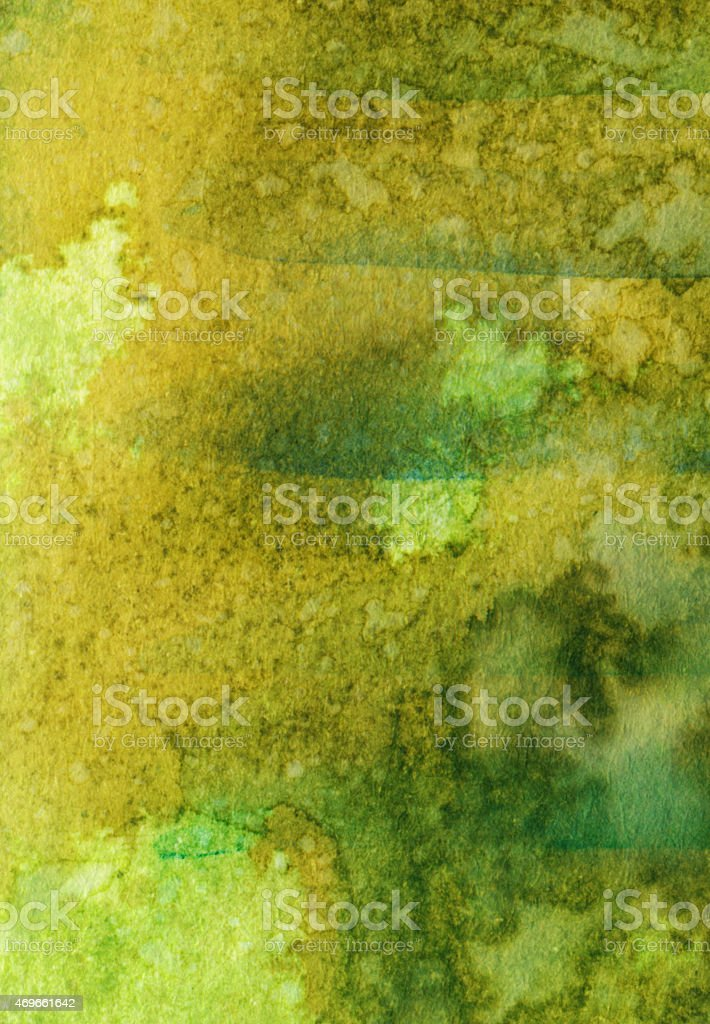 Chartreuse green watercolor background on paper stock photo