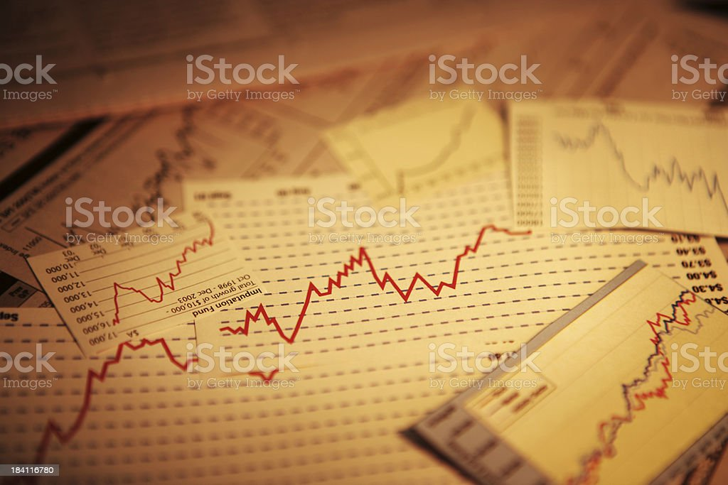 Charts and Graphs royalty-free stock photo