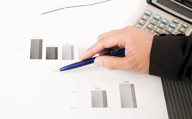 charts and graphs The charts and graphs of sales of securities. annually stock pictures, royalty-free photos & images