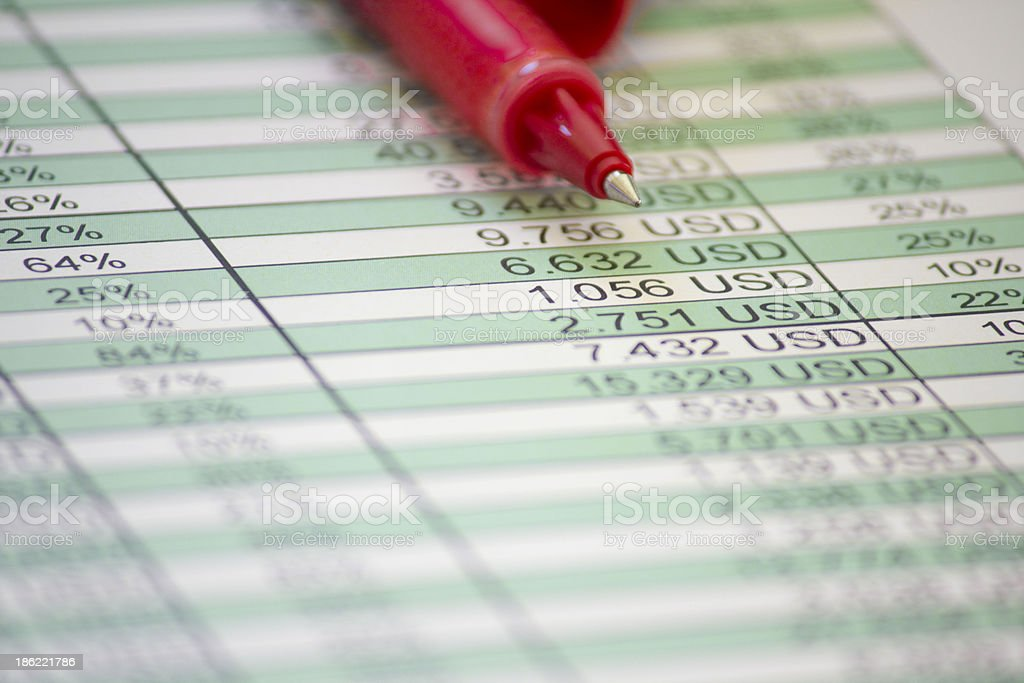Charts and statistic royalty-free stock photo