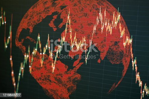 860389678 istock photo Charts of financial instruments with various type of indicators including volume analysis for professional technical analysis on the monitor of a computer. 1219845227