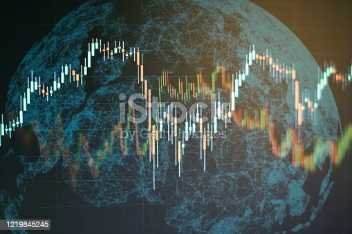 860389678 istock photo Charts of financial instruments with various type of indicators including volume analysis for professional technical analysis on the monitor of a computer. 1219845245