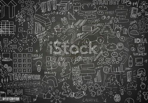 istock Charts on blackboard (Click for more) 915109158