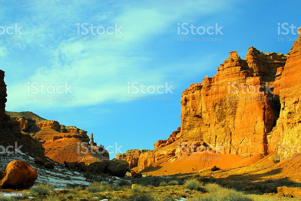 Charyn Canyon, Kazakhstan, Central Asia stock photo