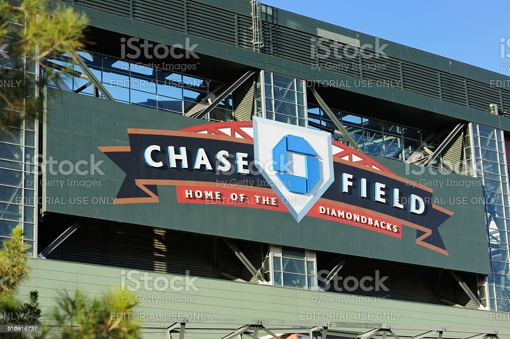 Chase Field sign stock photo