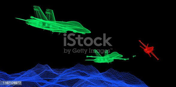istock Chase The Enemy in The Air 1162126972