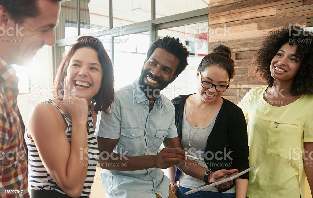 Chasing after success and having fun doing it stock photo