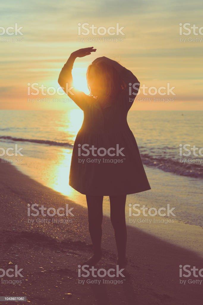 Chasing the Sun stock photo