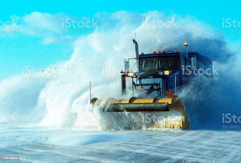 Chasse neige stock photo