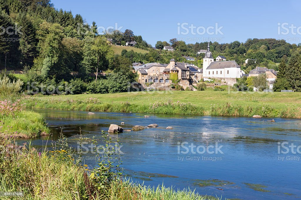 Chassepierre, picturesque village in Belgian Ardennes at river Semois - Photo