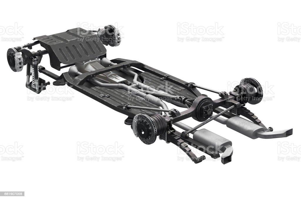 Chassis frame brake stock photo
