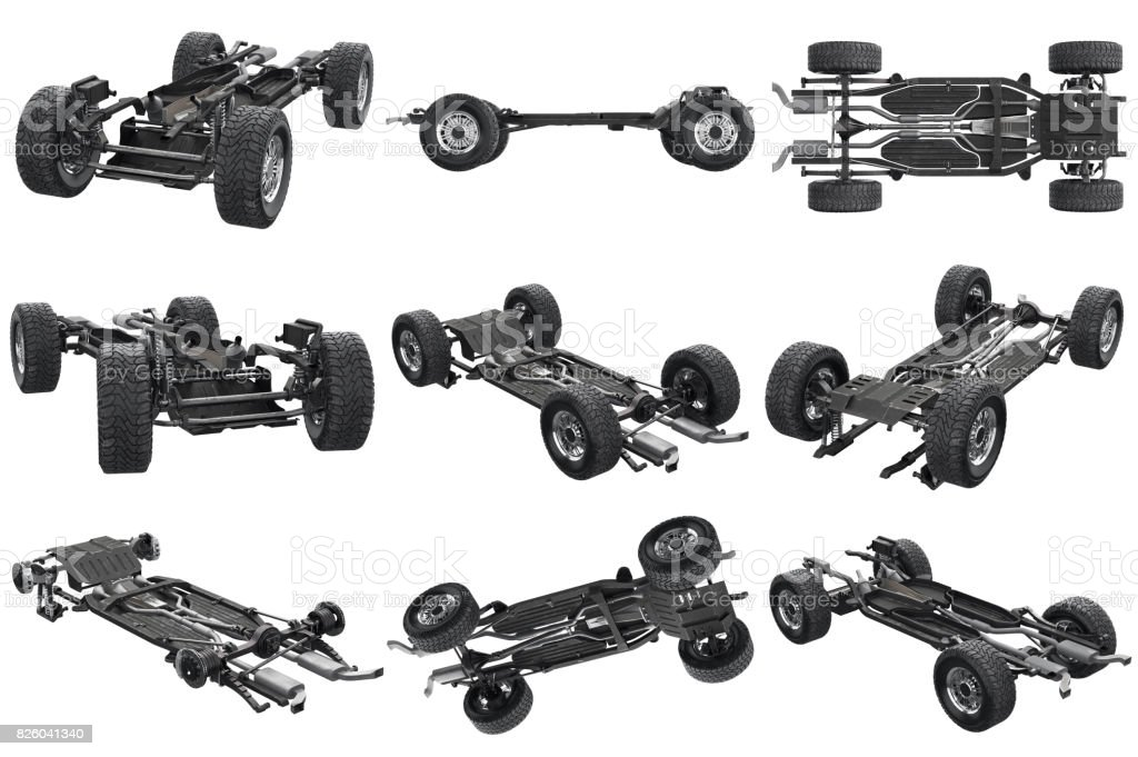 Chassis Frame Car Set Stock Photo & More Pictures of Black Color ...