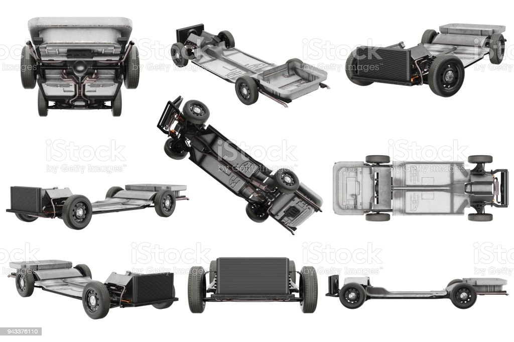 Chassis frame car set stock photo
