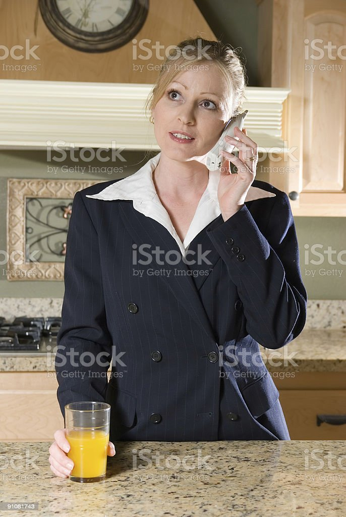 Chat before work royalty-free stock photo