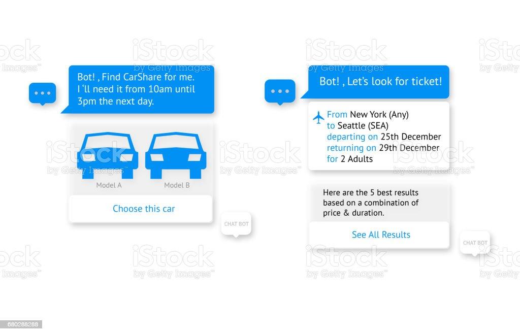 Chat-Bot und zukünftige marketing-Konzept. Automatische Chatbot Meldungsdialogfeld auf weißem Hintergrund. – Foto