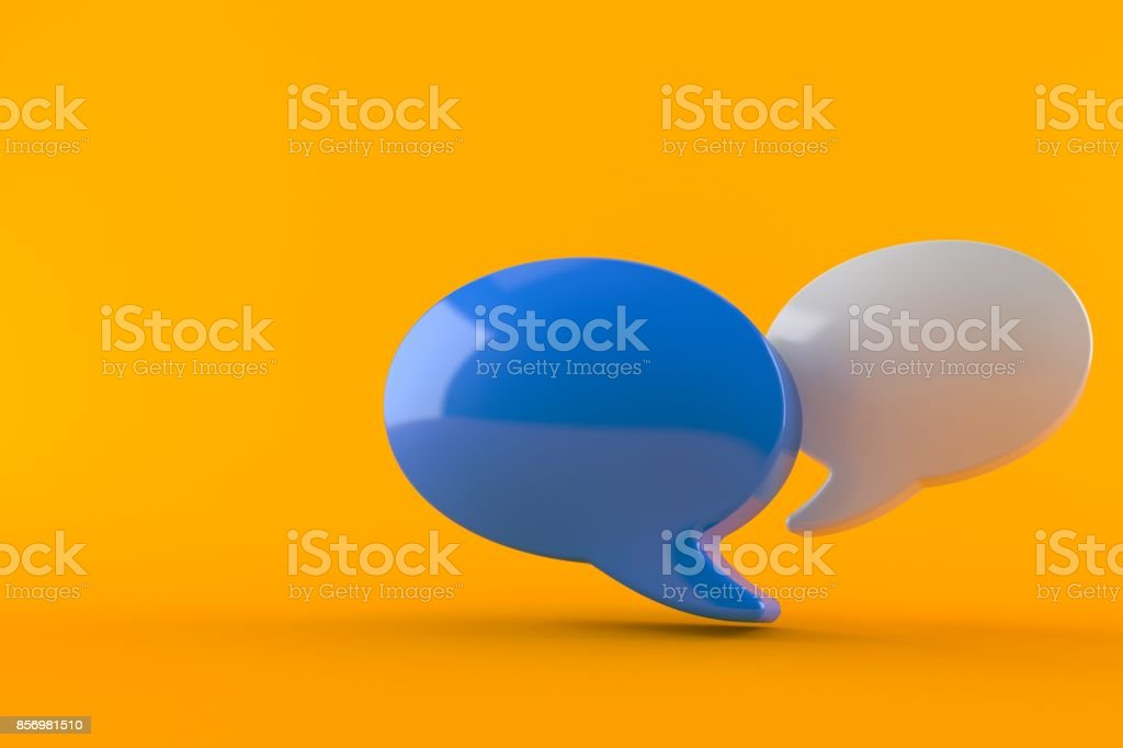 Chat bubble stock photo
