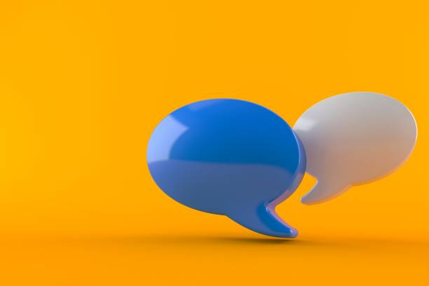 Chat bubble stock photo