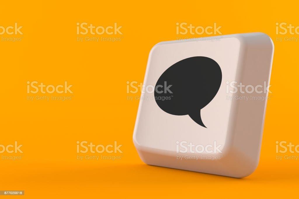 Botón Chat - foto de stock