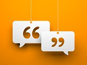istock Chat symbol and Quotation Mark 517899146