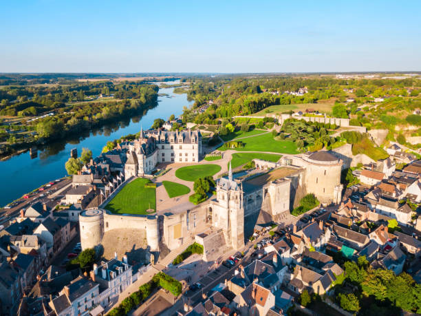 Chateau Amboise, Loire Valley, France stock photo