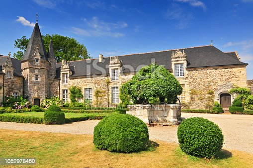 istock Chateau and Castle of Rochefort en Terrede Brittany in north western France. 1052976450