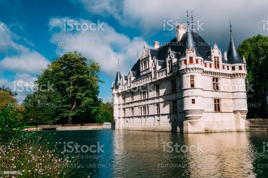 Chateau Azaylerideau Loire Valley France Stock Photo More Pictures