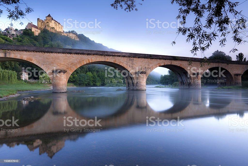 Chateau Castlenaud stock photo
