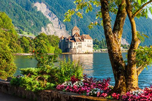 Chateau Chillon Castle in Switzerland
