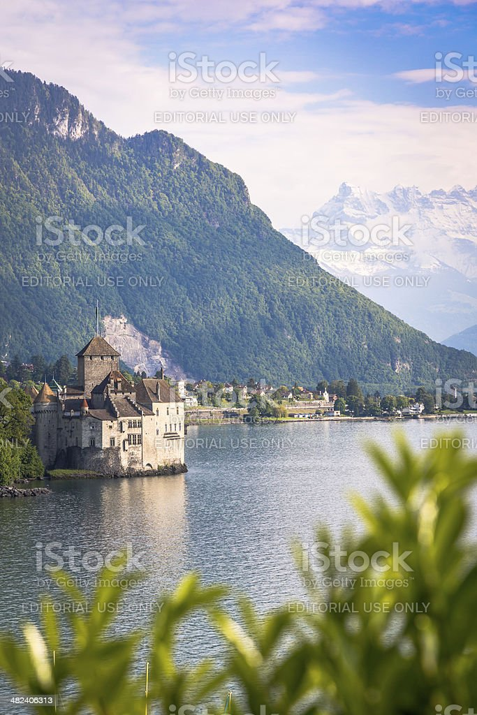 Chateau Chillon, Montreux, Switzerland stock photo