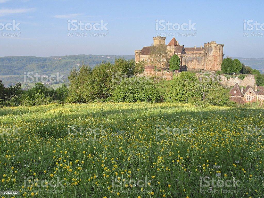 Chateau de Castelnau stock photo