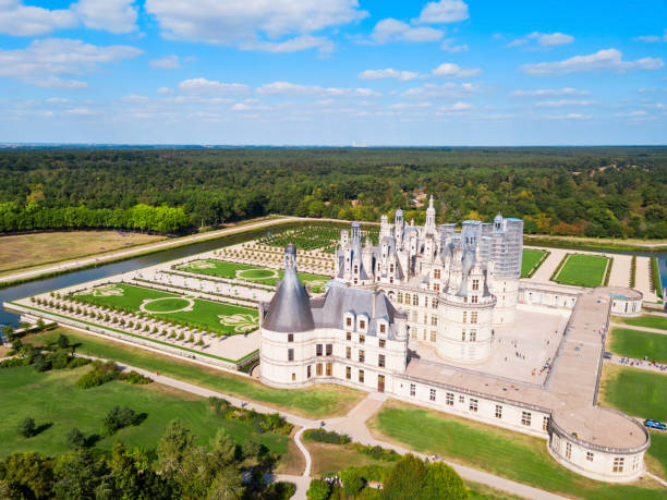 Chateau de Chambord castle, France stock photo