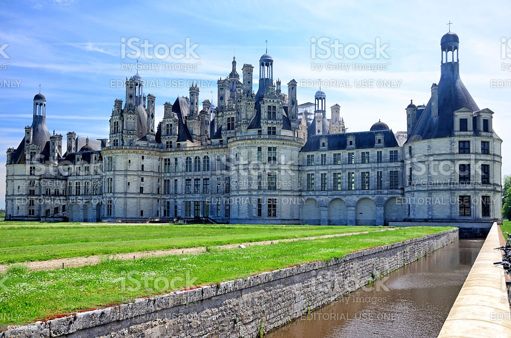 Castelo de Chambord, na França foto de stock royalty-free